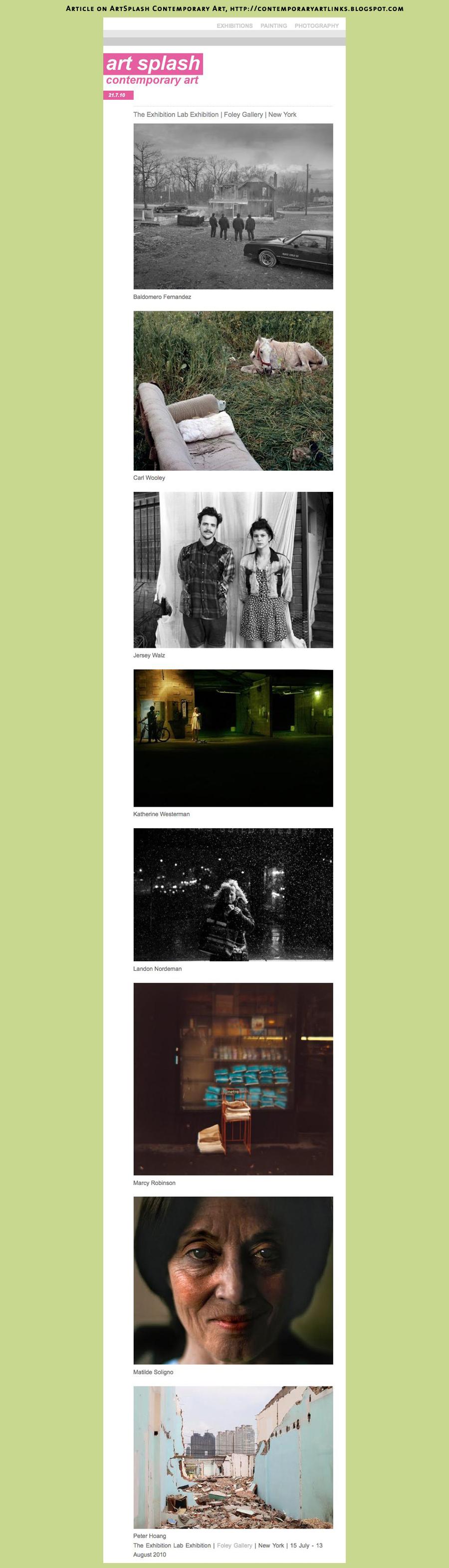 «The Exhibition Lab» on ArtSplash Contemporary Art, http://contemporaryartlinks.blogspot.com
