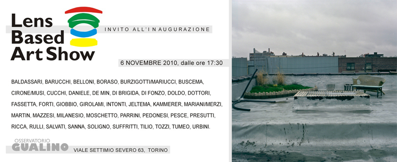 Special Mention, «Lens Based Art Show» at Osservatorio Gualino, Turin, Nov 2010