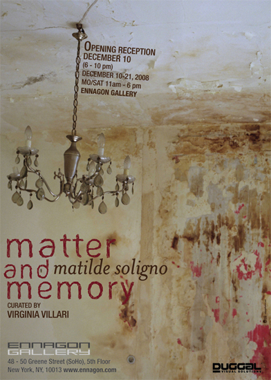 Matter and Memory, Exhibition Poster