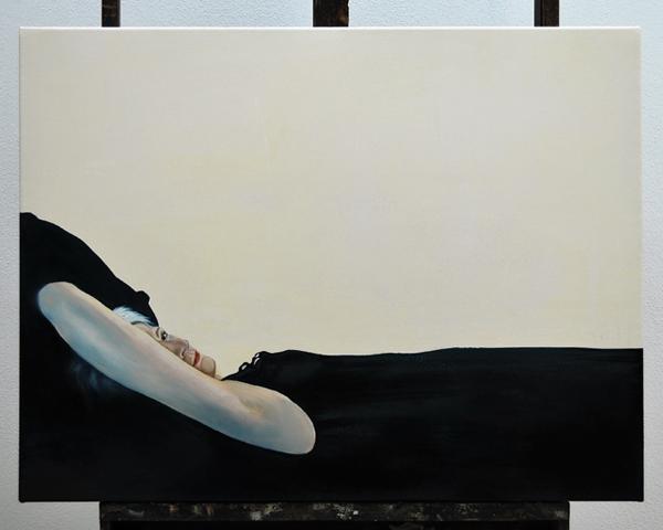 Elisa Gattafoni, sara_blue, 2010, acrilico su tela, 70x50cm