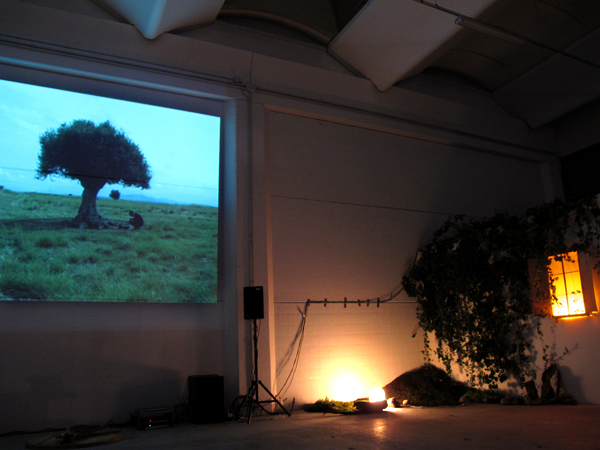 Zootropio 5/6-11-2011 – 'Himera/Christian Rainer', regia di Chiara Andrich e Valentina Pellitteri, 12', 2010/2011. Christian Rainer, 'Luci sicure', installazione luminosa, 2008.