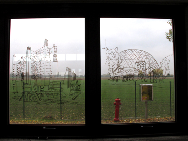 Zootropio – Enrico Vezzi, 'What We Are Coming To', installazione (pennarelli, cancellini), 2011.